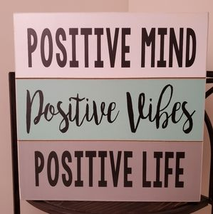 Positive Vibes Plaque